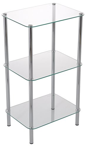 3-Tier Klarglasfachbodenregal-Stockholm 3-Tier Display Glas Einheit 3 Tür-bücherregal