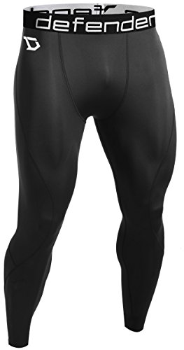 Defender Compression Tights Pants Workout Heat Sports Basketball Large 781-blueblack