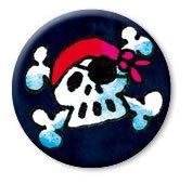 Mini-Button * Jolly Roger * mit Anstecknadel von Lutz Mauder // 67002 // Button Anstecker Kinder Geschenk Mitgebsel Geburtstag Jungen Piraten Totenkopf Schwarze Flagge -