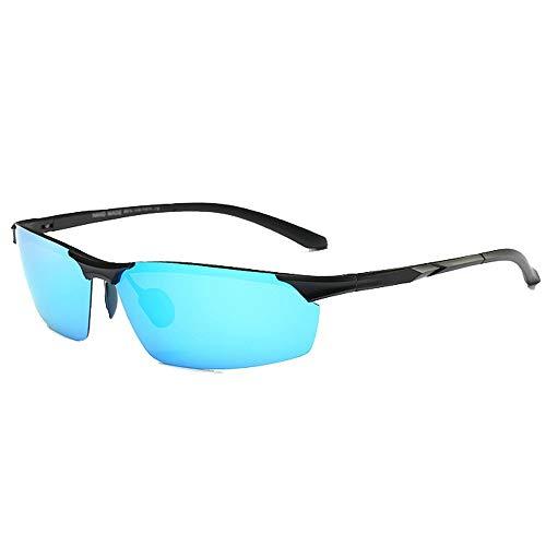 BJYG Sportsonnenbrille Strandurlaub UV-Schutz Outdoor-Aktivitäten Polarized Semi-Frameless Herren Sport Sonnenbrille TAC Objektiv UV400 Schutz Fahren Fahrrad Laufen Angeln Golf Fahren Laufen, Rei