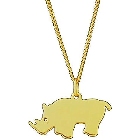 La de joyero de Florista & # 10047; Rhino–Colgante oro amarillo