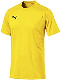 Puma Liga Casuals Camiseta, Hombre, Cyber Yellow/Black, XL