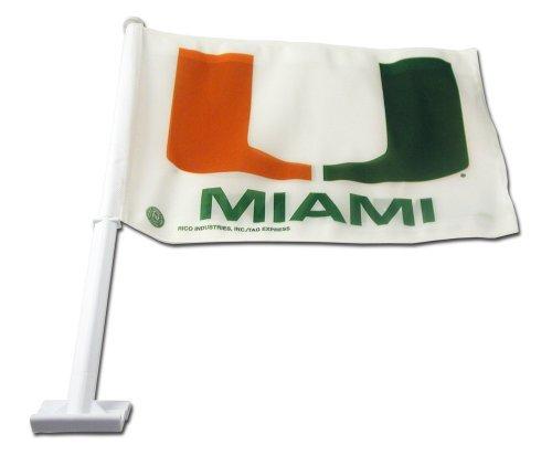 Miami Car Flag (NCAA Miami Hurricanes Car Flag by Rico)