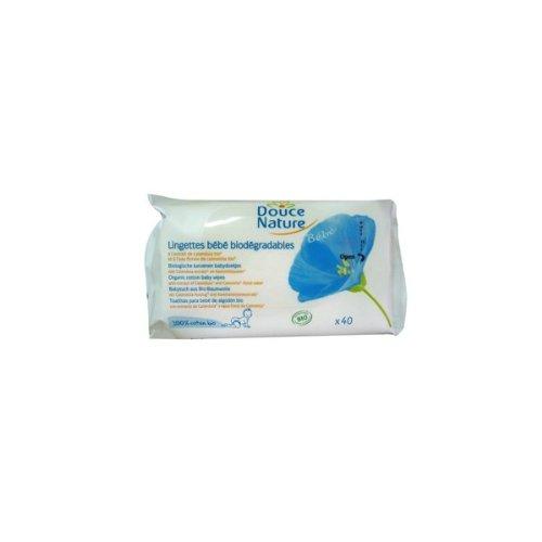 Primeal - PRI 5023 - Lingettes Bébé Biodégradables - Douce Nature Cosmébio - 40 - Lot de 2