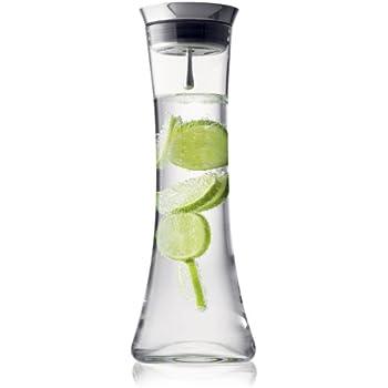 Menu 4665639 Wasserkaraffe mit Deckel, 1 Liter, weiss