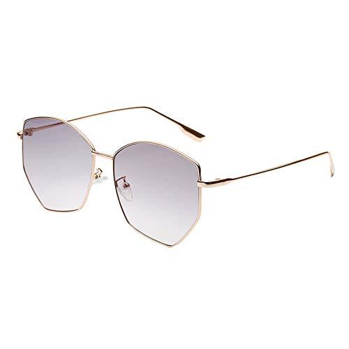 Whycat Sonnenbrille Damen Verspiegelt UV400 Polarized Sonnenbrille für Damen Mode Verspiegelte Linse Retro Gradient Oversize(EIN)