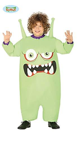 Guirca aufblasbarer Monster böse Giftzwerg Kostüm für Kinder grün Gr. 122/128, Größe:122/128