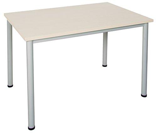 Schreibtisch in verschiedenen Größen und Farben graues Metallgestell Konferenztisch...