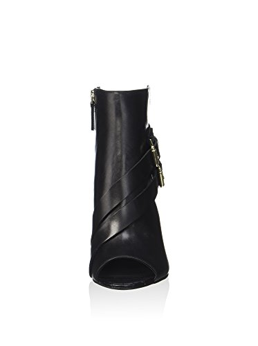 Guess Tronchetto Donna Bayless Zip Tacco Cm 10 Pelle Black Black