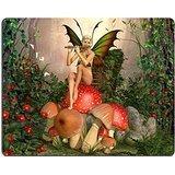 luxlady-tapis-de-souris-gaming-id-39833396-elfiques-beautiful-woman-in-motif-foret-de-contes-de-fees