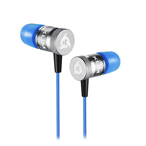 KLIM Fusion In-Ear-Kopfhörer mit Memory Foam, Blau