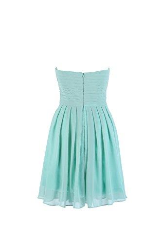 YiYaDawn Kurzes Cocktailkleid Brautjungfernkleid für Damen Koenigsblau