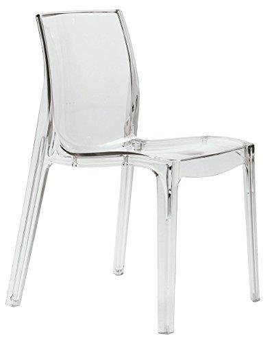 Arredo & design italy 4 sedie policarbonato trasparenti da interno moderna prima qualità