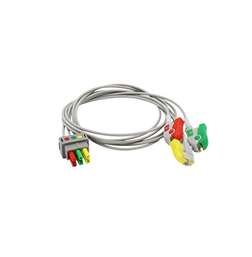 Kompatibel Datex ohmeda ECG 3Führen Draht IEC europäischen Standard Pinch/Grabber - Führen Ekg-kabel