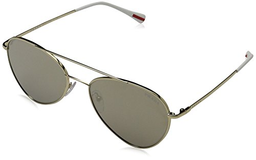 Prada Sport Herren 0PS50SS ZVN1C0 57 Sonnenbrille, Gold (Pale Gold/Light Brown Gold)