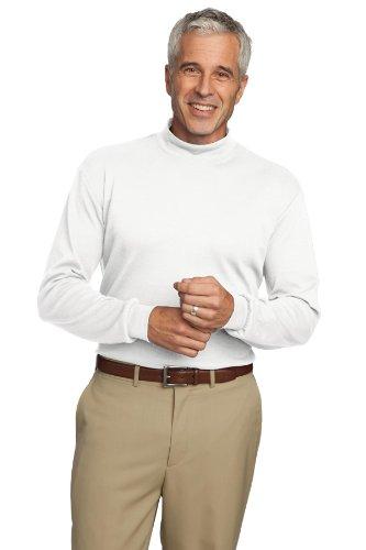 Port Authority® Interlock Knit Mock Turtleneck. K321 White 2XL - Mock Rollkragenpullover
