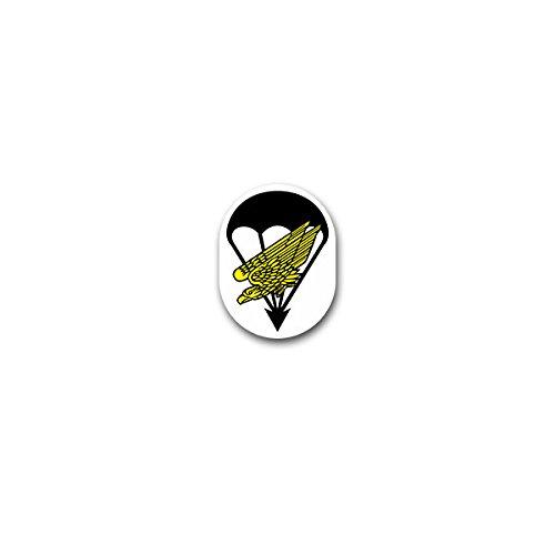 Aufkleber / Sticker -Fallschirmjäger Luftwaffe Fallschirm Falli Bundeswehr grüne Teufel Militär Soldaten Einheit Wappen 5x7cm #A3253 (Fallschirm-aufkleber)