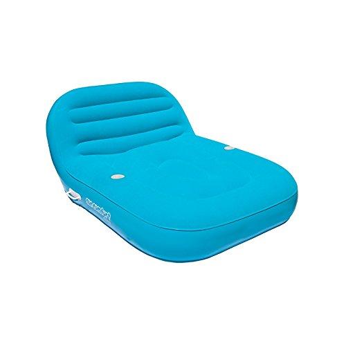 Airhead Inflatable Double Chaise Lounge Aublasbarer Lounge-Sessel für 2 Personen | Garantiert dir und deinen Freunden einen unterhaltsamen Sommer im Freien | Die riesige Chaise Lounge bringt dir und deinen Freunden den ultimativen Luxus am Strand sowie im Wasser | Bestellbar in den Farben Grün, Pink und Blau (Blau) - Chaise Lounge-sessel