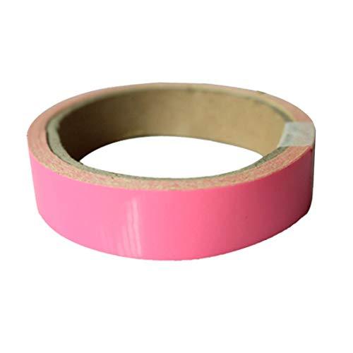 WEIHAN Pink Glow Tape Sicherheitsaufkleber Abnehmbares Leuchtband Fluoreszierendes, selbstklebendes, nachtleuchtendes Nachtwarnband