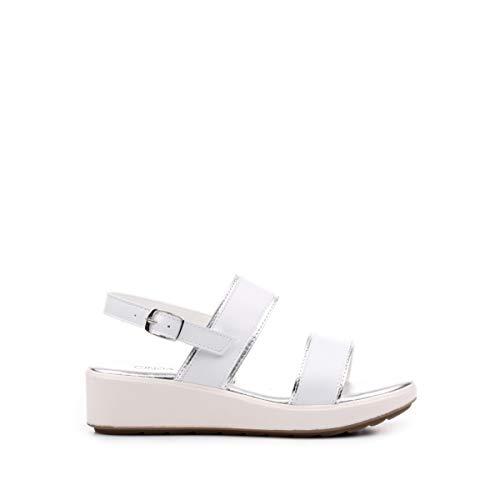 CINZIA SOFT 001 Sandalo Zeppa Bianco/argento37 - Primavera Estate