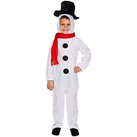 Disfraz para niños muñeco de nieve de Navidad Festive
