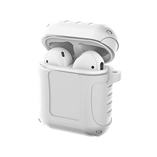 GHC USB Cables, für AirPods, 5th. Generation Armor Protection Anti-Fall-Wasserdichtes Spritzen Perfekte Passform Silikonhülle (Farbe : Weiß)