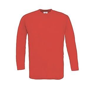 B&C - Langarm T-Shirt 'Exact 150 LS' / Red, 3XL 3XL,Red