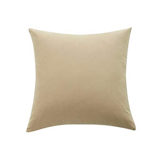 Xmiral Kissenhüllen Kopfkissenbezug Einfarbig Weich Pillowcase Zierkissenbezüge(C,50 x 50 cm)