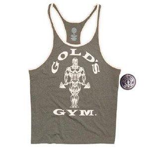 Golds Gym Muscle Joe Contrast Canotta Stringer Tank, army/cream, XXL