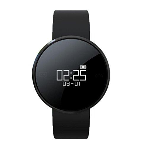 TPulling Bluetooth 4.0 Sport Smart Uhr Mit Blutdruckfunktion Bluetooth Armband Herzfrequenz SMS Für Iphone Android (Schwarz)