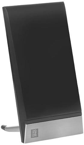 Full HD Zimmerantenne für TV von One For All - 42 dB - Geeignet für den Empfang von DVB-T & DVB-T2 - Full HD ready - Schwarz - (Full Hd Fernseher Günstig)