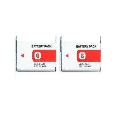 Neewer® 2pz Sostituzione Nuova Ricaricabili Batterie NP-BG1 NP-FG1 per Sony DSC-H3 N2 N1 H10 W50 (Np Fg1 Sostituzione)