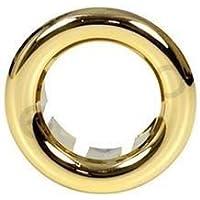 Pequeño rosetón dorado con cuello rosa para el desbordamiento del lavabo del lavabo 25 mm de diámetro