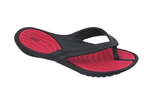 AQUA-SPEED Damen Badeschuhe Zehentrenner Strandschuhe - sehr leicht Aruba 478-31, rot/schwarz, 40