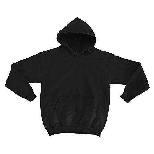 Gildan Kinder Unisex Hoodie / Sweatshirt mit Kapuze XS,Schwarz (Kinder Sweatshirt Gildan)