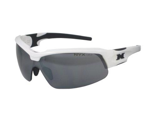 NYX Sport Vision Pro z-17Serie Sonnenbrille mit Z87.1Sicherheit Bewertung schwarz, weiß-schwarz Rahmen/dunkelgrau Abweiser Sicherheit Objektiv, Medium