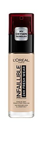 L'Oréal Paris Infaillible 24H Fresh Wear Make-up in Nr. 20 Ivory, hohe Deckkraft, langanhaltend, wasserfest, atmungsaktiv, 30 ml