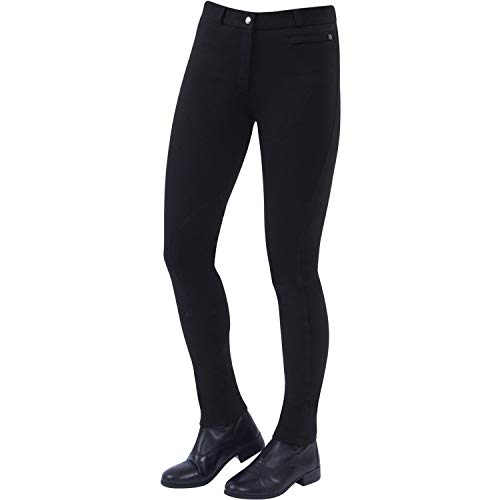 Dublin Supa Fit Zip Up Knee Patch Jodhpurs 36 inch Black Fit Breeches