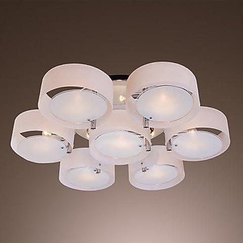 artes claras Lámpara Chandelier Acrílica Cromada con 7 Bombillas - FINSTERWALDE ( Voltage : 110-120V )