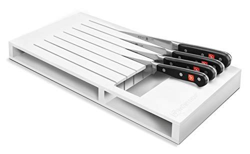 WÜSTHOF Schubladeneinsatz für 7 Teil Küchenzubehör, Kunststoff, weiß, 43 x 22 x 4 cm