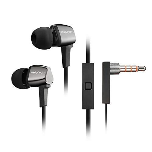 Misfan In-Ear-Kopfhörer, Stereo hochwertige 3,5mm Universal-Kopfhörer Quad-Core-Subwoofer mit Mikrofon-Fernbedienung In-Ear-Sport-Kopfhörer,Black