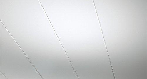 PARADOR Novara - Weiß Hochglanz Dekor-Paneele - für Wand und Decke mit Feuchtraumeignung und Nut-Feder-Verbindung - 1258128 - Paket a 1,5m²