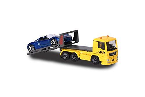 Majorette 212057520Q01 - City Set, MAN TGA Tow Truck, Miniatur LKW inkl. Porsche, Die-Cast - Diecast Tow Truck
