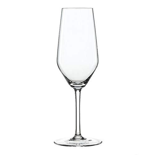 SPIEGELAU 4670187 15,2 x 15,2 x 23,4 cm Style Flûte à Champagne en Verre, Lot de 4, Transparent