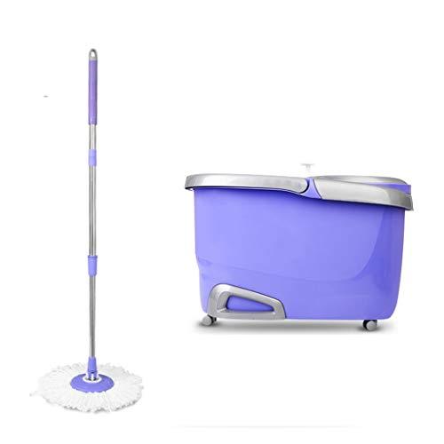 MOP Thbeibie Spinning und Eimer Reinigungsset mit Rollrad, abnehmbar, aufhängend, Violett