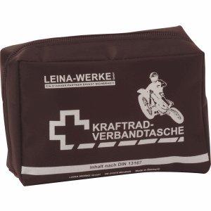 Leina Werke REF 17010 Leina Kraftrad-Verbandtasche, Inhalt DIN 13167, schwarz, Set of 20