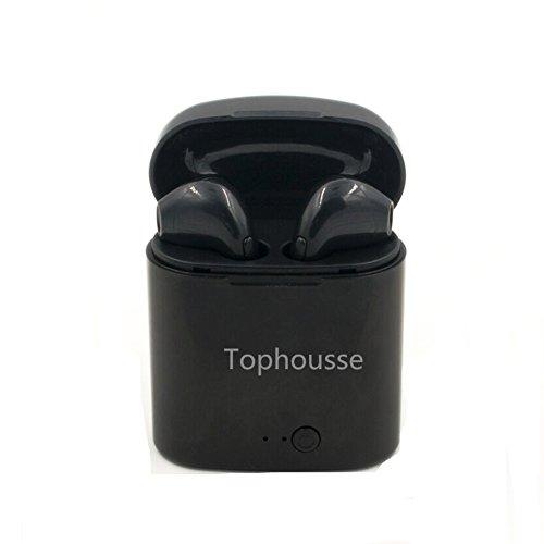 Écouteurs bluetooth airpods sans fil, casque audio avec station de recharge, Iphone, Samsung et kit mains libres (1000mAh chargeur,Noir)