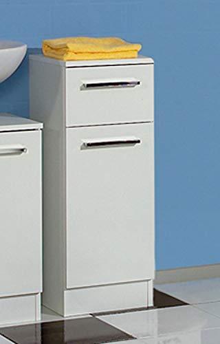 Avanti Trendstore - Blanco - Arredamento da Bagno Moderno, in Laminato di Colore Bianco (Armadietto Basso)