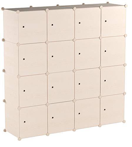 PREMAG Wood Pattern Portable Garderobe für hängende Kleidung, Kombischrank, modulare Schrank für platzsparende, ideale Storage Organizer Cube für Bücher, Spielzeug, Handtücher (20 New)