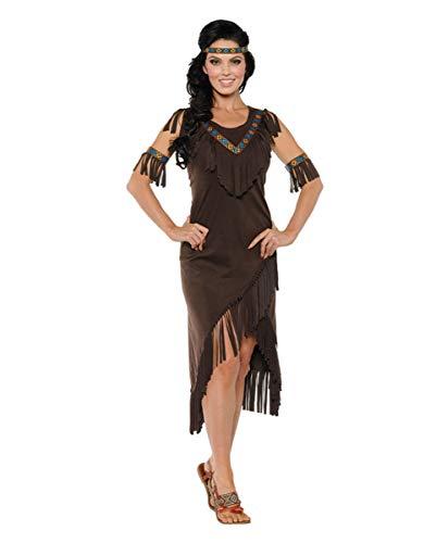Horror-Shop Indianerin Spirit Kostüm für Frauen L (Zwei Wilden Und Verrückten Halloween Kostüm)